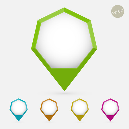 Hexagon pointer set Vector