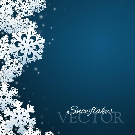 Snowflakes achtergrond met abstracte vallende sneeuw