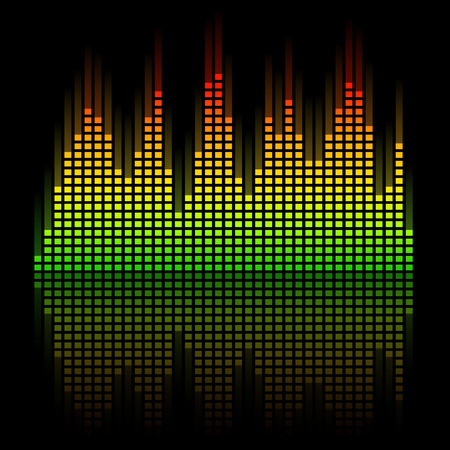 digital music: Digital Equalizer with reflection Illustration