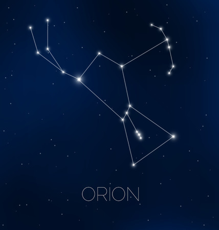 starfield: Orion constellation in night sky