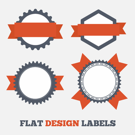 Flat design Labels Vector