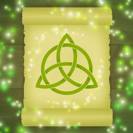 neopagan: Triquetra symbol spell Illustration