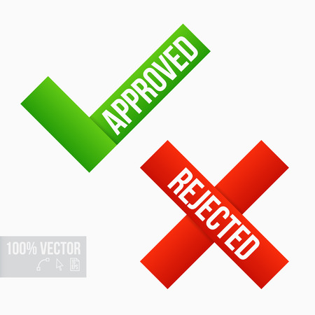 Approved and Rejected Marks Vector