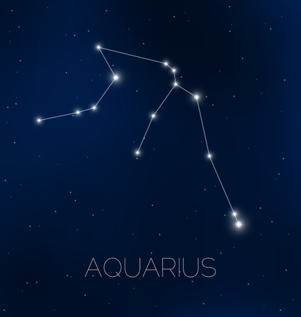 astrophotography: Aquarius constellation in night sky