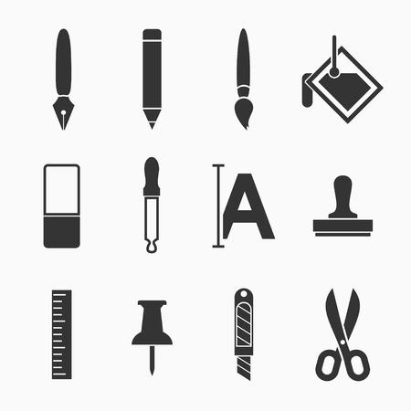 Art icons set - eenvoudig en gemakkelijk te begrijpen
