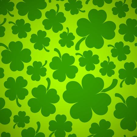fourleaf: Saint Patricks day design - Four-leaf clover seamless pattern