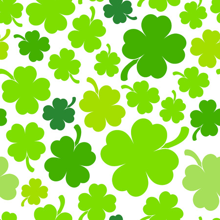 clover backdrop: Saint Patricks day design - Four-leaf clover seamless pattern
