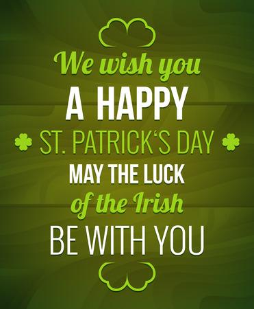Saint Patrick's Day design - Typography poster Vettoriali