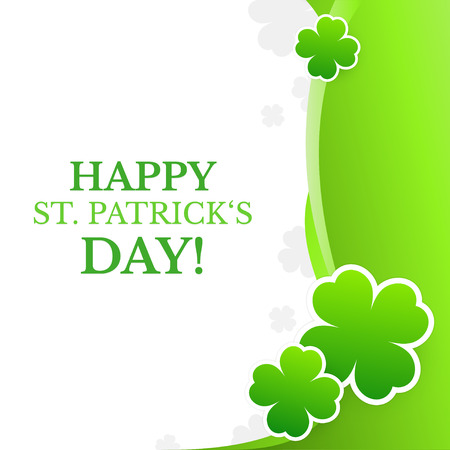 Saint Patricks Day design - Four-leaf clover background Vector