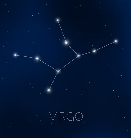 Virgo constellation in night sky