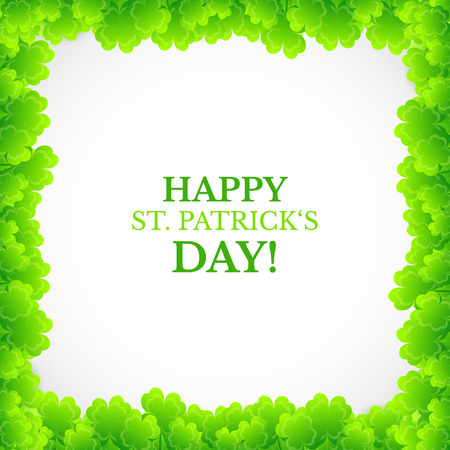 Saint Patricks day design - Four leaf clover frame Vector