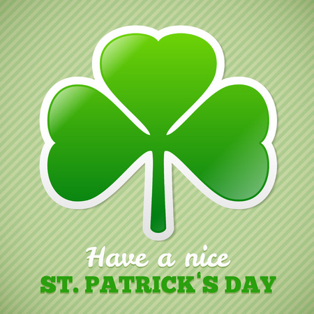 Saint Patricks Day design - Shamrock sticker Vector