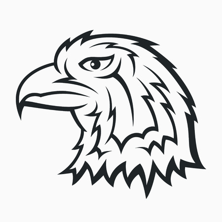 Eagle head symbol - tattoo design Vector
