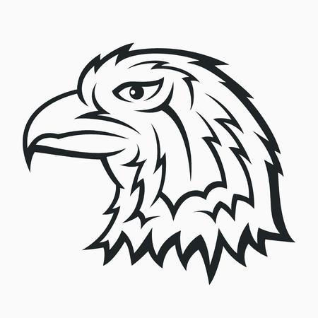 Eagle head symbol - tattoo design