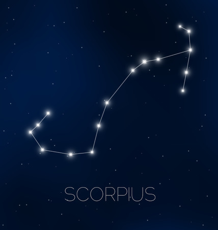 Scorpius constellation in night sky