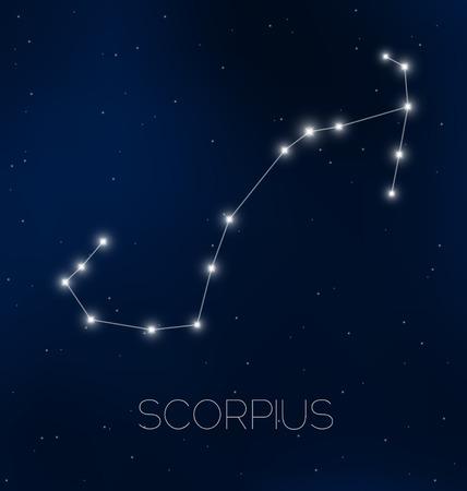 Scorpius sterrenbeeld aan de nachtelijke hemel