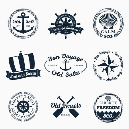 Nautical labels set.  Vector