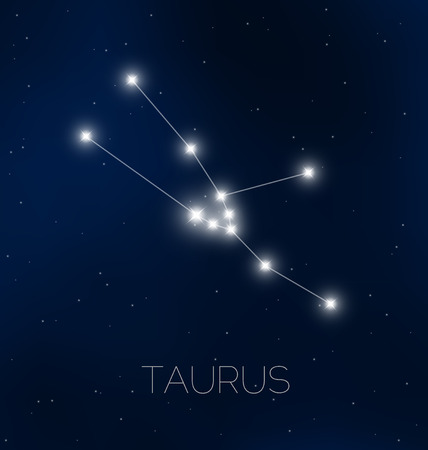 Taurus constellation in night sky