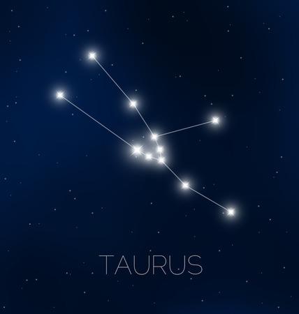 Taurus constellation in night sky