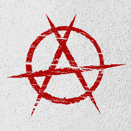 anarchy: Anarchy symbol painted on wall