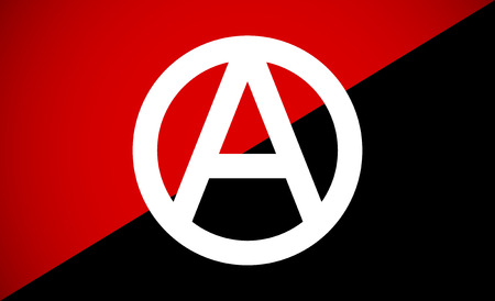 anarchist: Anarchist flag with Anarchy symbol