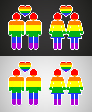 homosexual: Rainbow heart - symbol of homosexual love