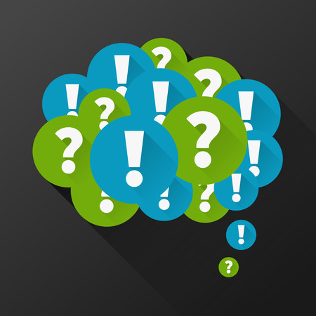 Question and answers as thought bubble Vector