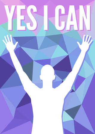 Motivation Success theme with man silhouette