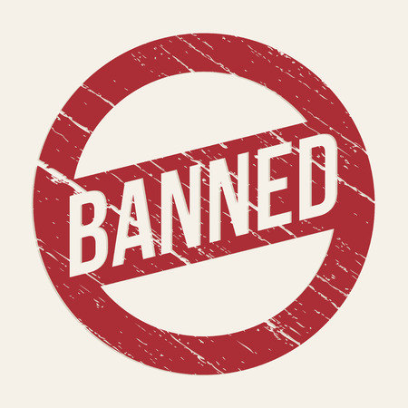 no symbol: Red Banned sign - vector graphic