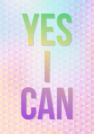 Motivation poster with colorful texture Vector