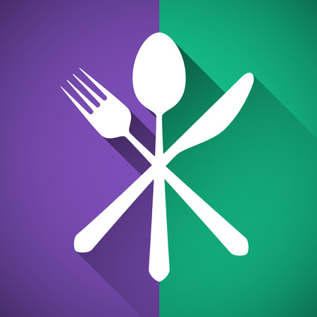 Gastronomy - Restaurant symbol, fork, knife and spoon