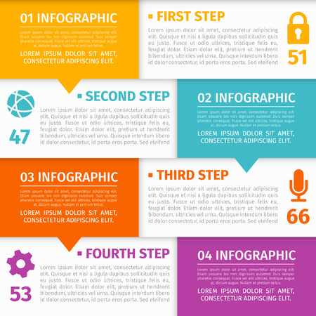 sticker design: Modern Infographic with place for your text and icons