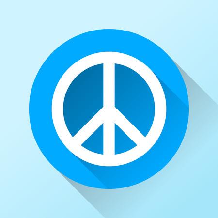 simbolo della pace: Simbolo di pace con una lunga ombra Vettoriali