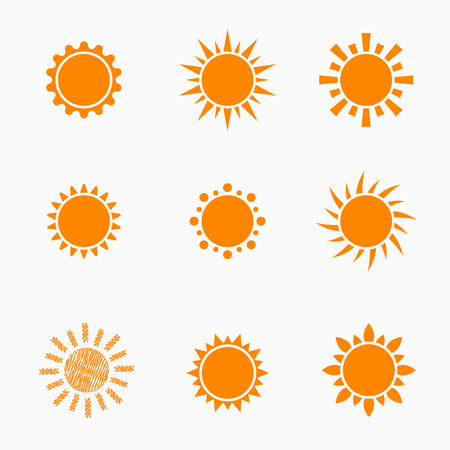forecast: Orange Sun symbols set 2