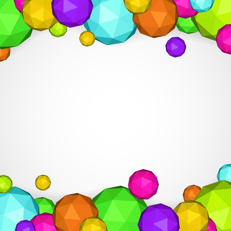 Polygon spheres on light background Vector