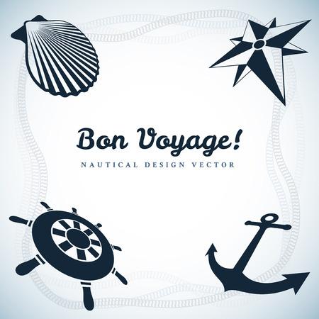 amity: Nautical design with four symbols Illustration