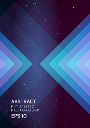 Abstract futuristic background with universe Vector