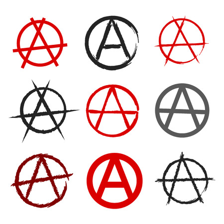 Anarchy Symbol Set Royalty Free Cliparts Vectors And Stock