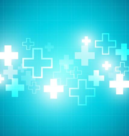 medical illustration: Blue medical design with crosses