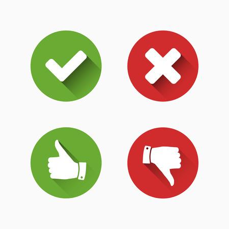Controleren en annuleren Marks Stock Illustratie