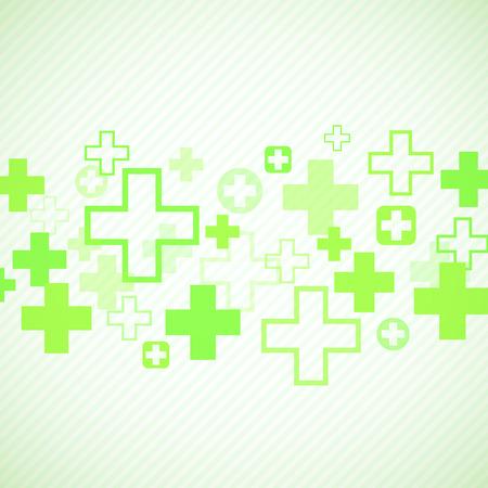 Groen medisch ontwerp met kruisen