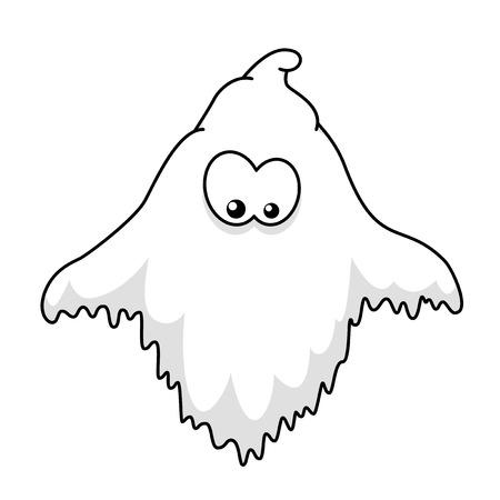 Halloween ghost cartoon Illustration