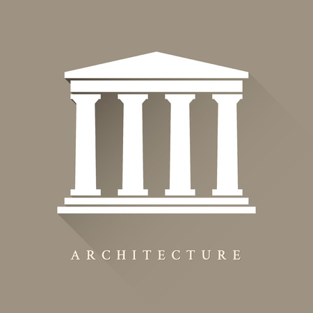 Roman temple: Arquitectura s�mbolo griego edificio Vectores