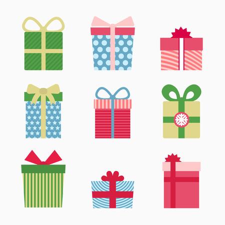 surprise gift: Gift symbol set