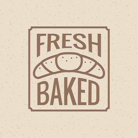 baked: Fresh baked - bakery symbol