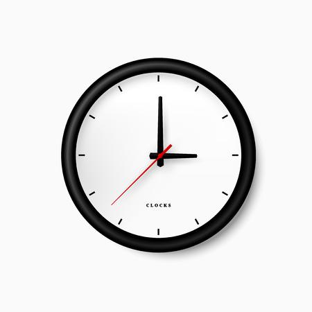 orologio da parete: Semplice orologio nero