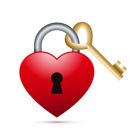 Heart lock with Heart shape key