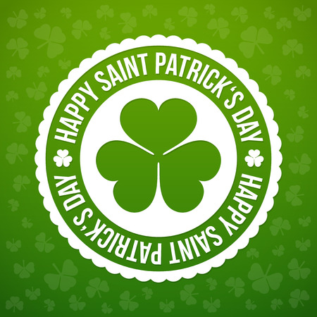 celtic shamrock: Saint Patricks day design - Shamrock emblem