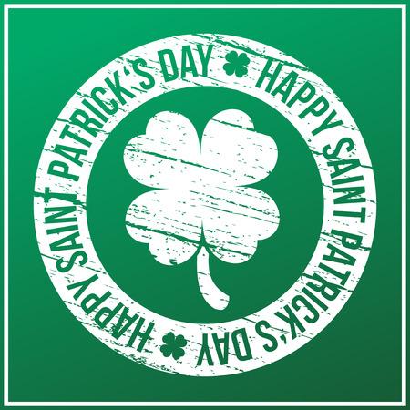 clover backdrop: Saint Patricks day design - four leaf clover stamp