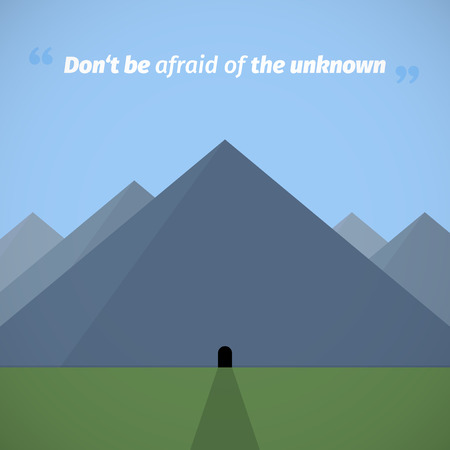 unknown: Afraid of the unknown graphic Illustration